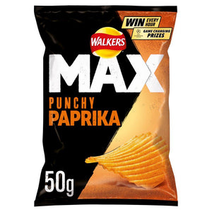 Walkers Max Punchy Paprika Crisps 50g - Edinburgh Booze Delivery