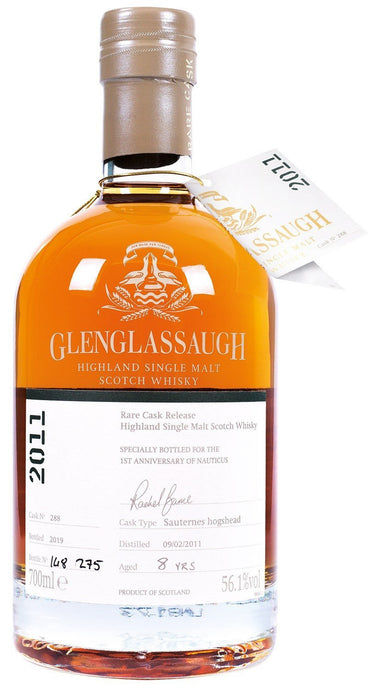 Nauticus - Glenglassaugh 2011 Single Sauternes Cask Nauticus 1st Anniversary (700ml) - Edinburgh Booze Delivery