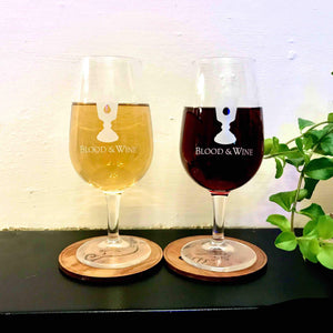 "Pair of ""Blood & Wine"" Cocktail Glasses - Edinburgh Booze Delivery"
