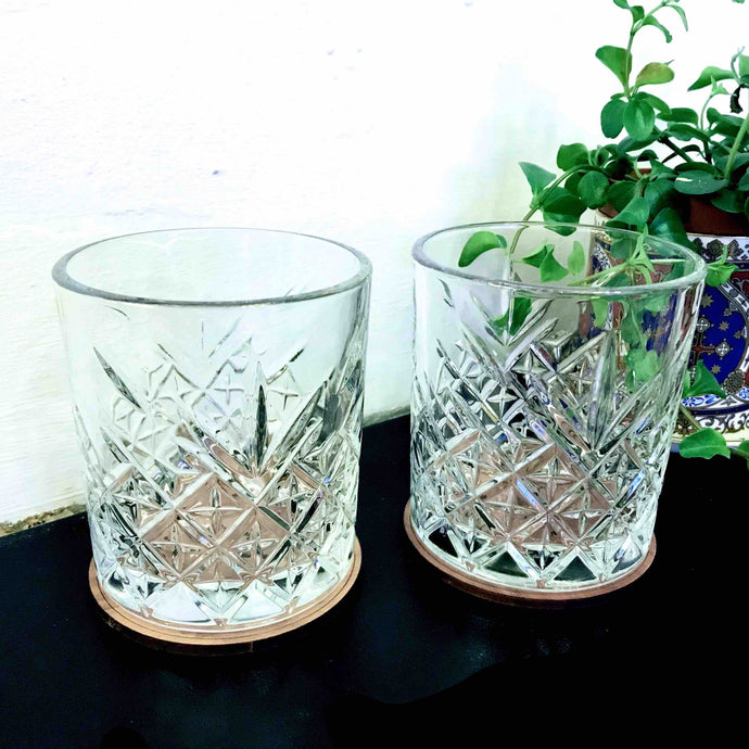 Pair of Old-Fashioned Tumbler Glasses - Edinburgh Booze Delivery