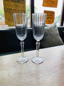 Pair of Vintage Style Champagne Flutes - Edinburgh Booze Delivery