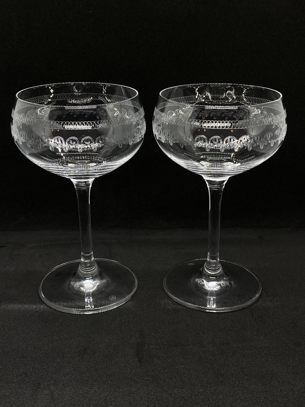 Pair of Vintage Style Coupe Glasses (180ml size) - Edinburgh Booze Delivery