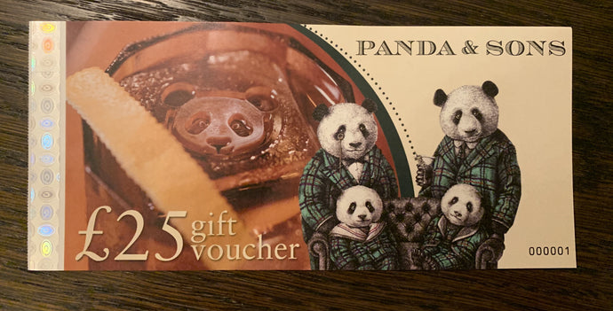 Panda & Sons £25 Gift Voucher - Edinburgh Booze Delivery