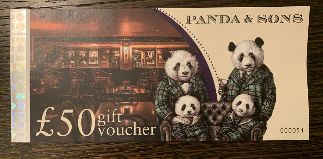 Panda & Sons £50 Gift Voucher - Edinburgh Booze Delivery