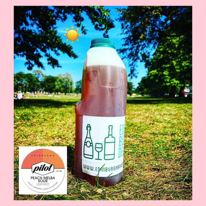 Pilot Beer - Peach Melba Sour (2 pints) - Edinburgh Booze Delivery