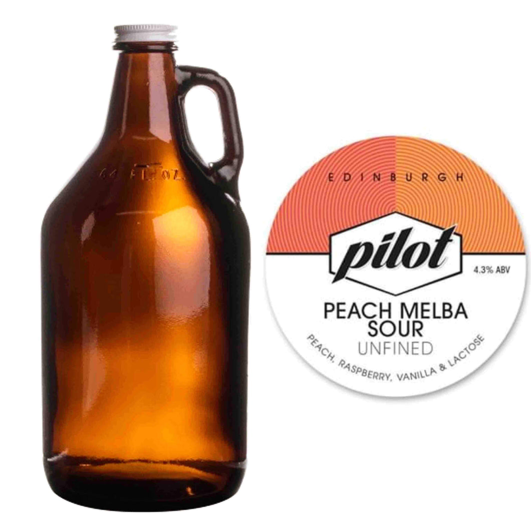 Pilot Beer - Peach Melba Sour (Growler / 3.5 pints) *COLLECTION ONLY - Edinburgh Booze Delivery