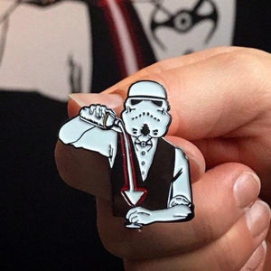 The Pop Up Geeks - Startender Enamel Pin Badge - Edinburgh Booze Delivery