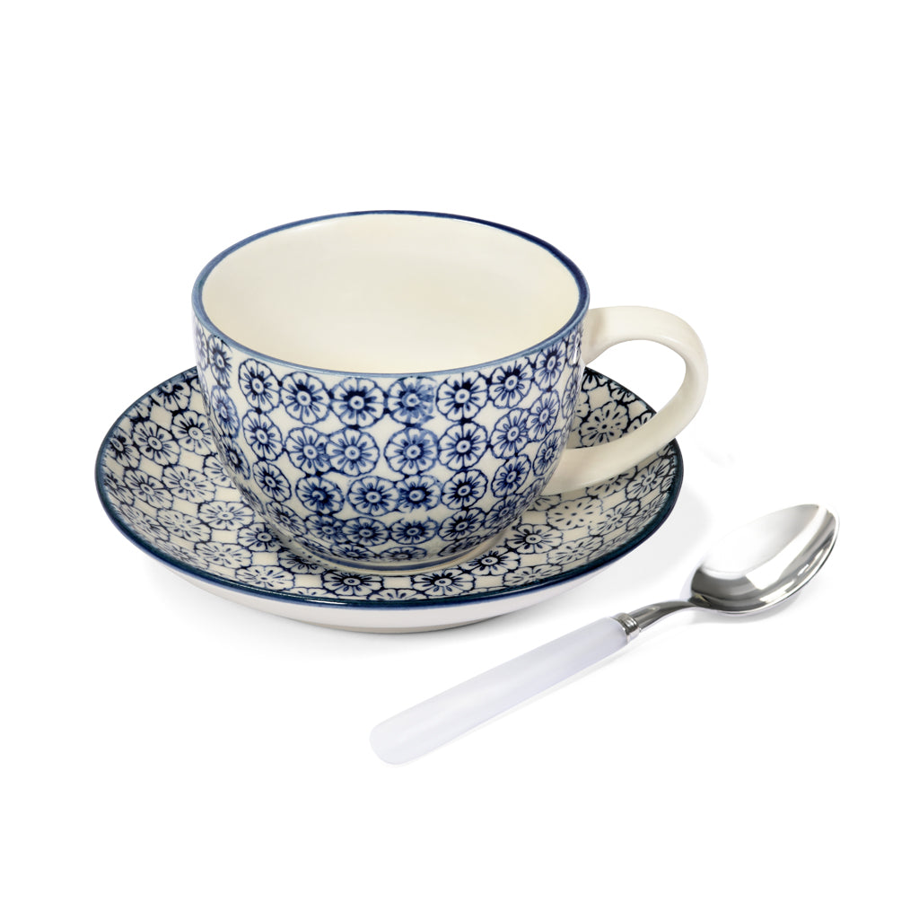 Teacup, saucer & teaspoon