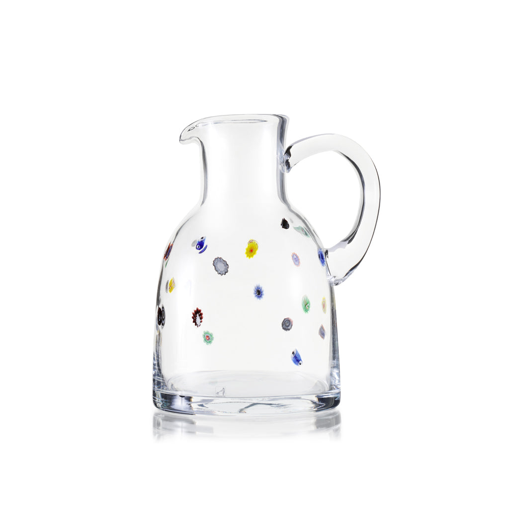 Handblown glass jug