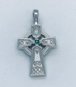 Celtic cross in 14k white gold