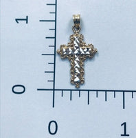 Two Tone Gold Filagree Cross