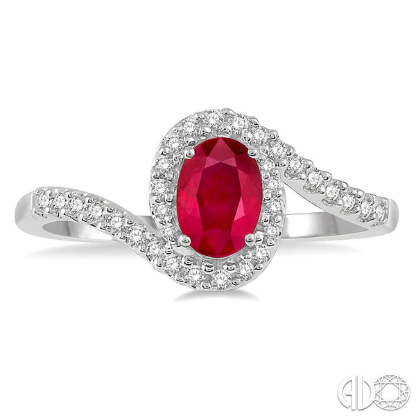 Oval Ruby and Diamond ring.