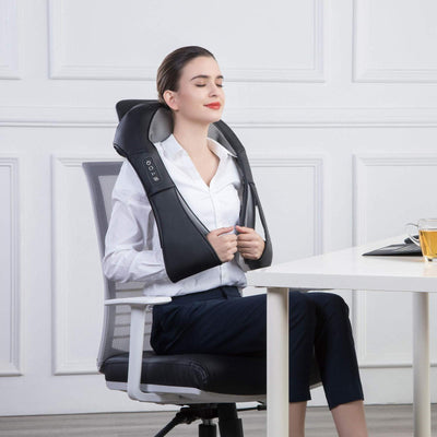 Melaxza™  - Back Neck Shoulder Massager With Heat