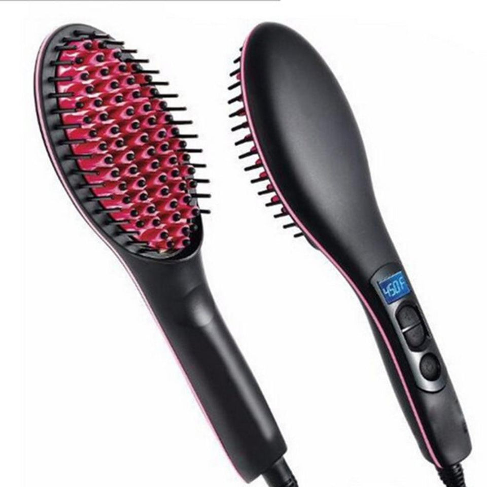 Portable Size Handheld Hair Straightening Brush