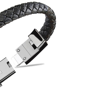 CHARGE-IN™ Leather USB Charging Cord Bracelet