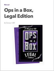 Ops in a Box, Legal Edition
