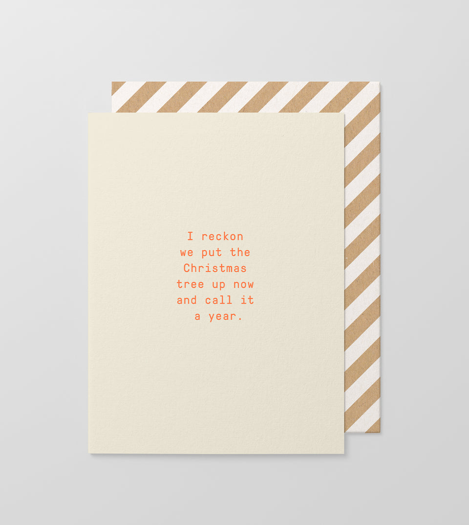 Call It A Year greeting card