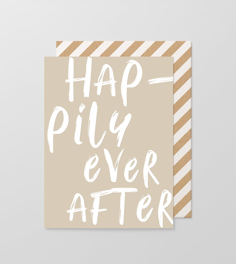 Hap-pily Ever After greeting card