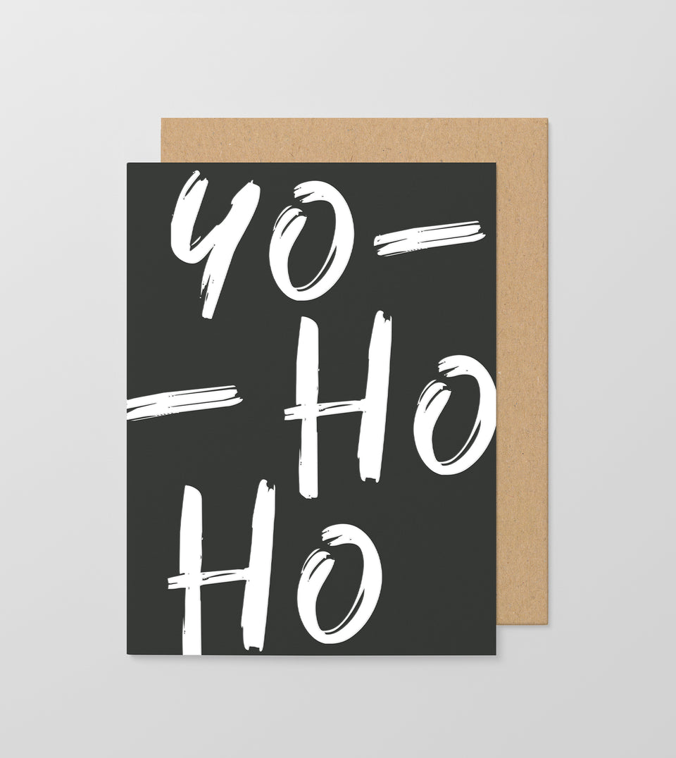 Yo Ho Ho greeting card