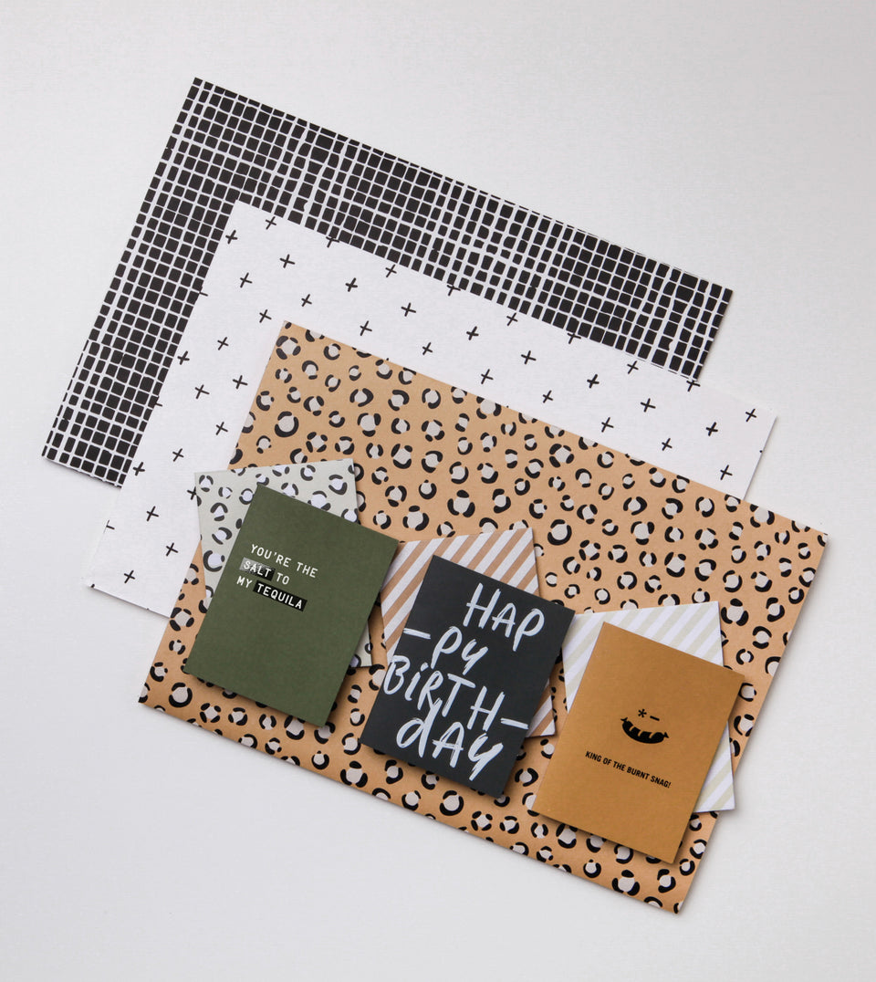 NEW! 3 card, 3 wrap pack - naturals