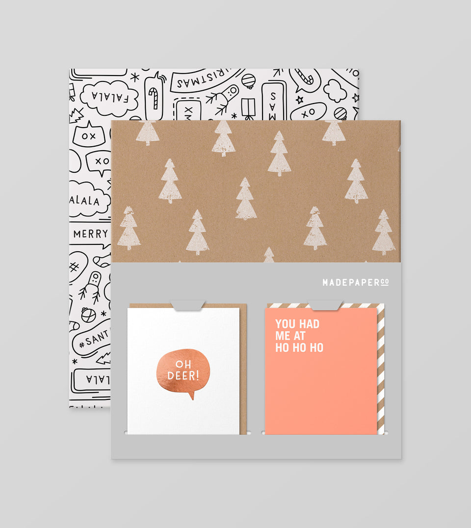 Christmas wrap + card set - style #10