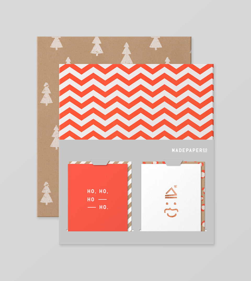 Christmas wrap + card set - style #9