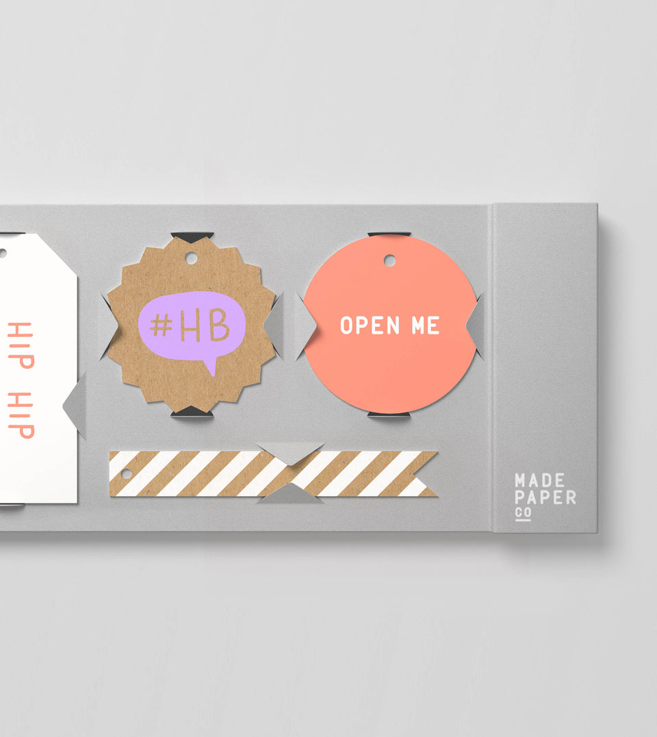 Happy birthday 20pk gift tags