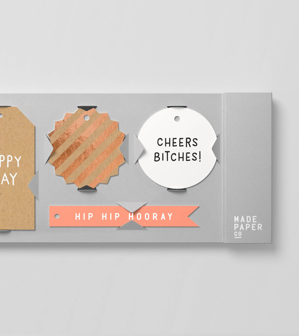 Happy birthday 20pk gift tags (foil)