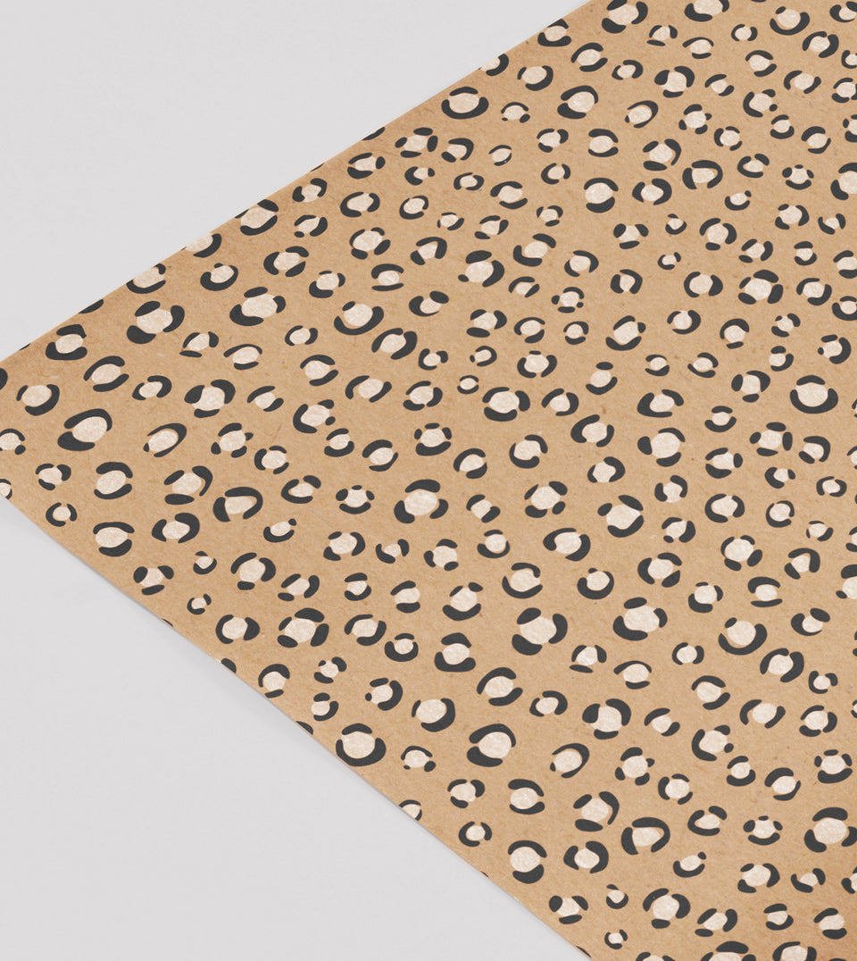 Leopard print gift wrap paper