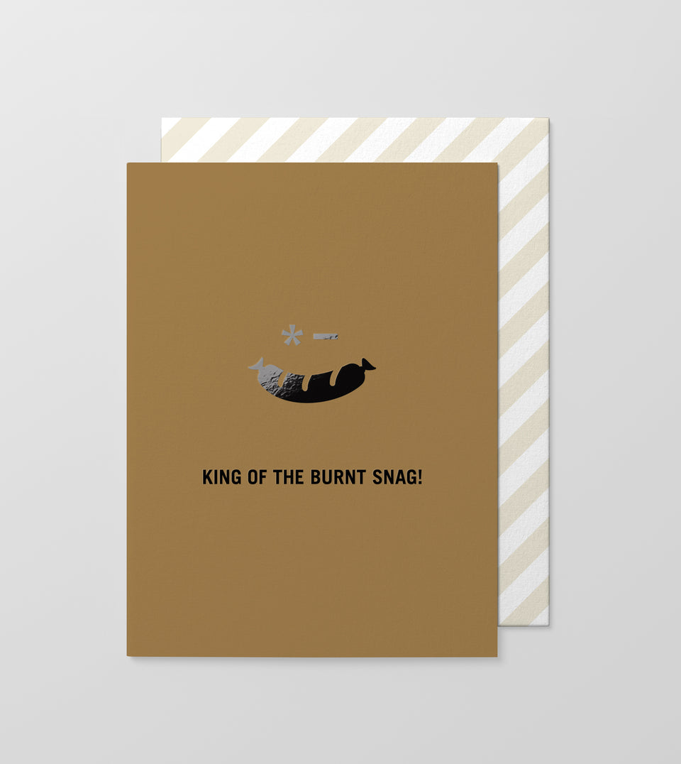 Burnt Snag greeting card