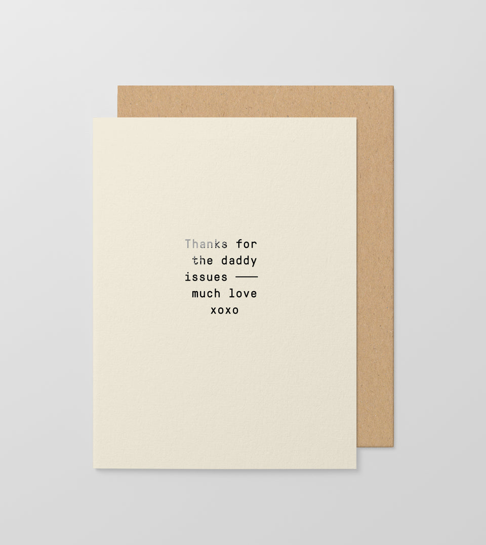 Daddy Issues greeting card