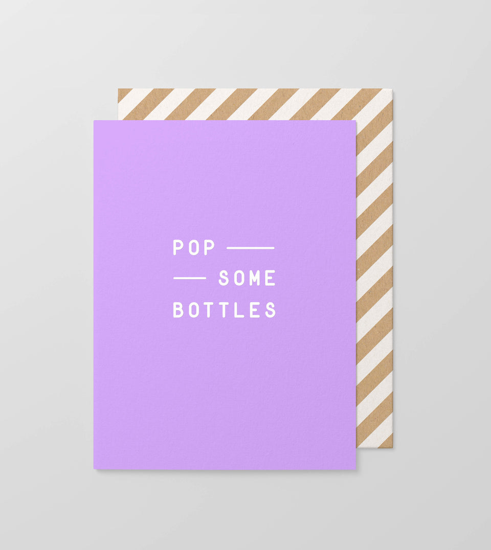 Pop some bottles greeting card