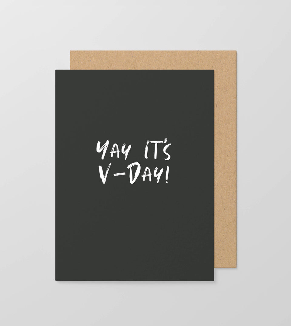 Yay It's V-Day! greeting card