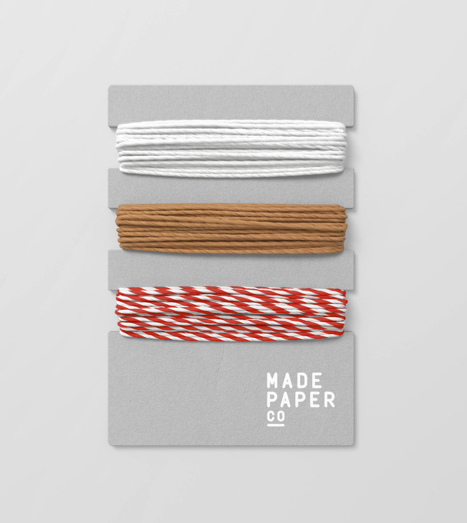 Paper gift string