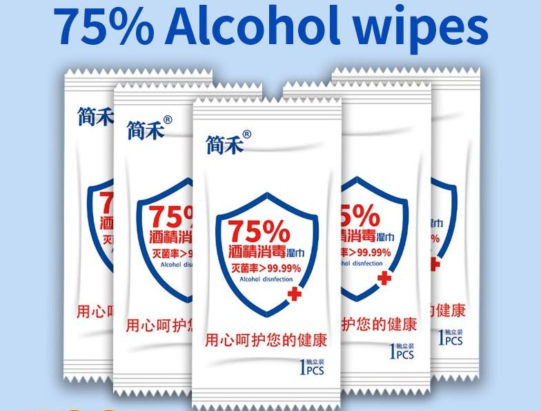 50pcs/lot Disposable Wipes Individually Wrapped Portable