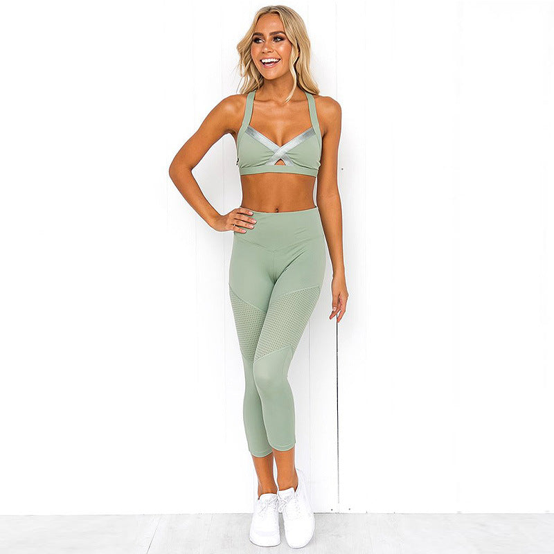 Stitching Yoga Gym Running  Leggings