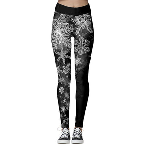 Christmas Leggings - Ice Black