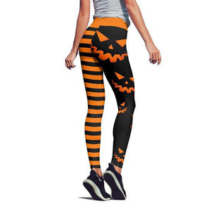 High Waist Yellow Pumpkin Leggings