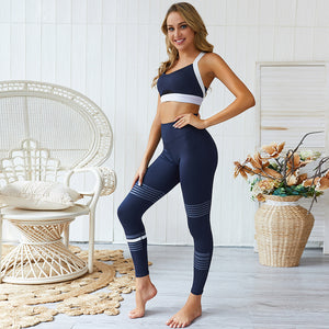 2 Piece Set - Young Navy Color Sport Yoga Set