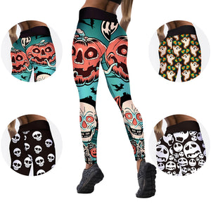 Pumpkin Leggings - High Waist Yoga Leggings