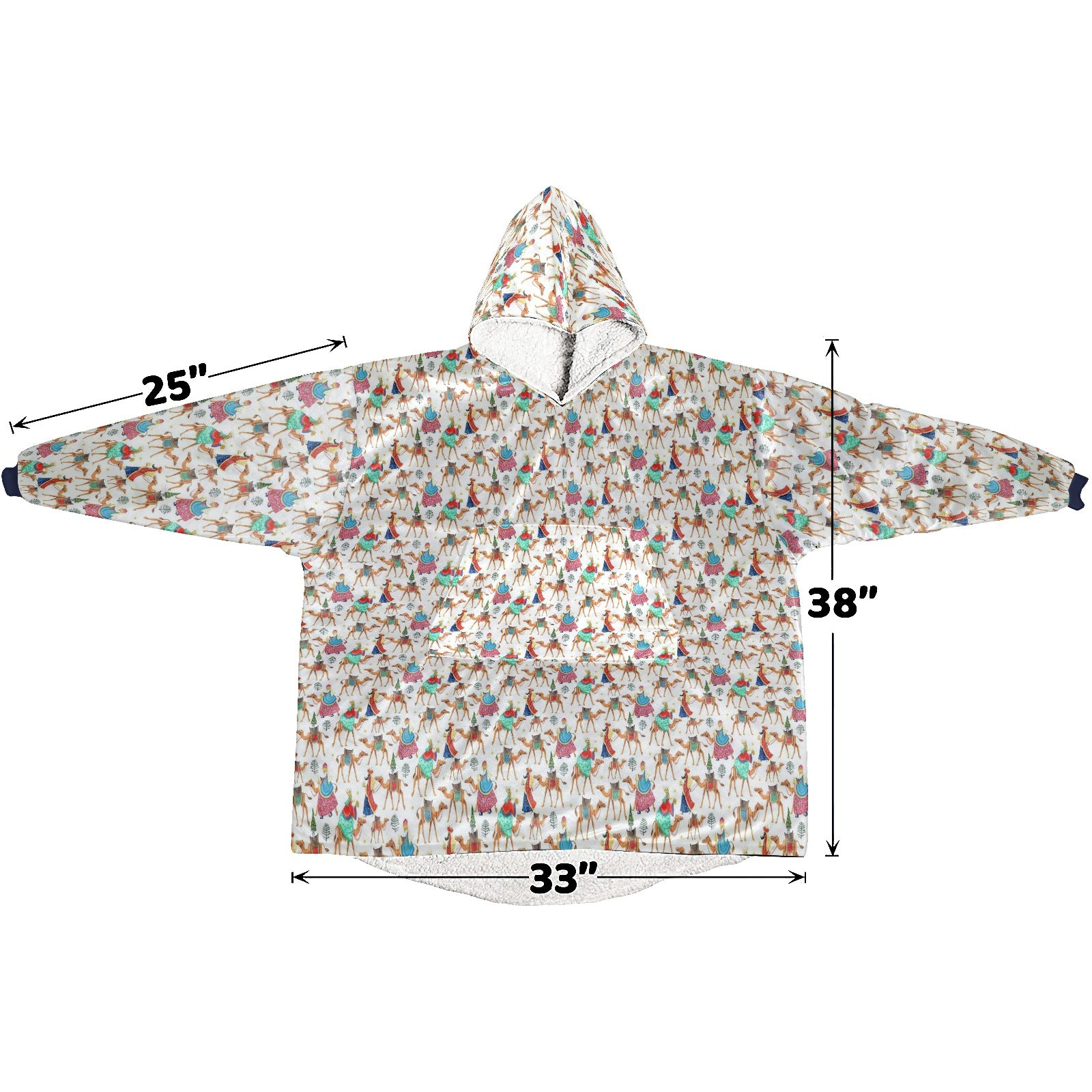 Three Kings Holiday Christmas  Hoodie Blanket Sweatshirt