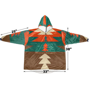 Traditional Christmas Decor Hoodie Blanket Sweatshirt