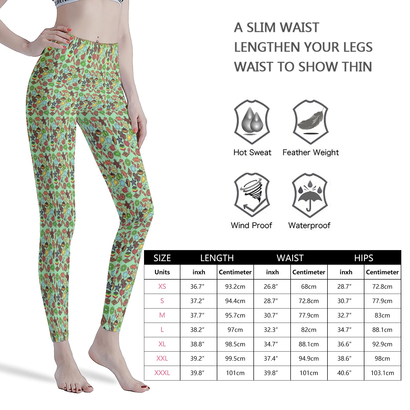 Christmas Xmas Cookies Holiday Baking Treats  Women's Workout Leggings