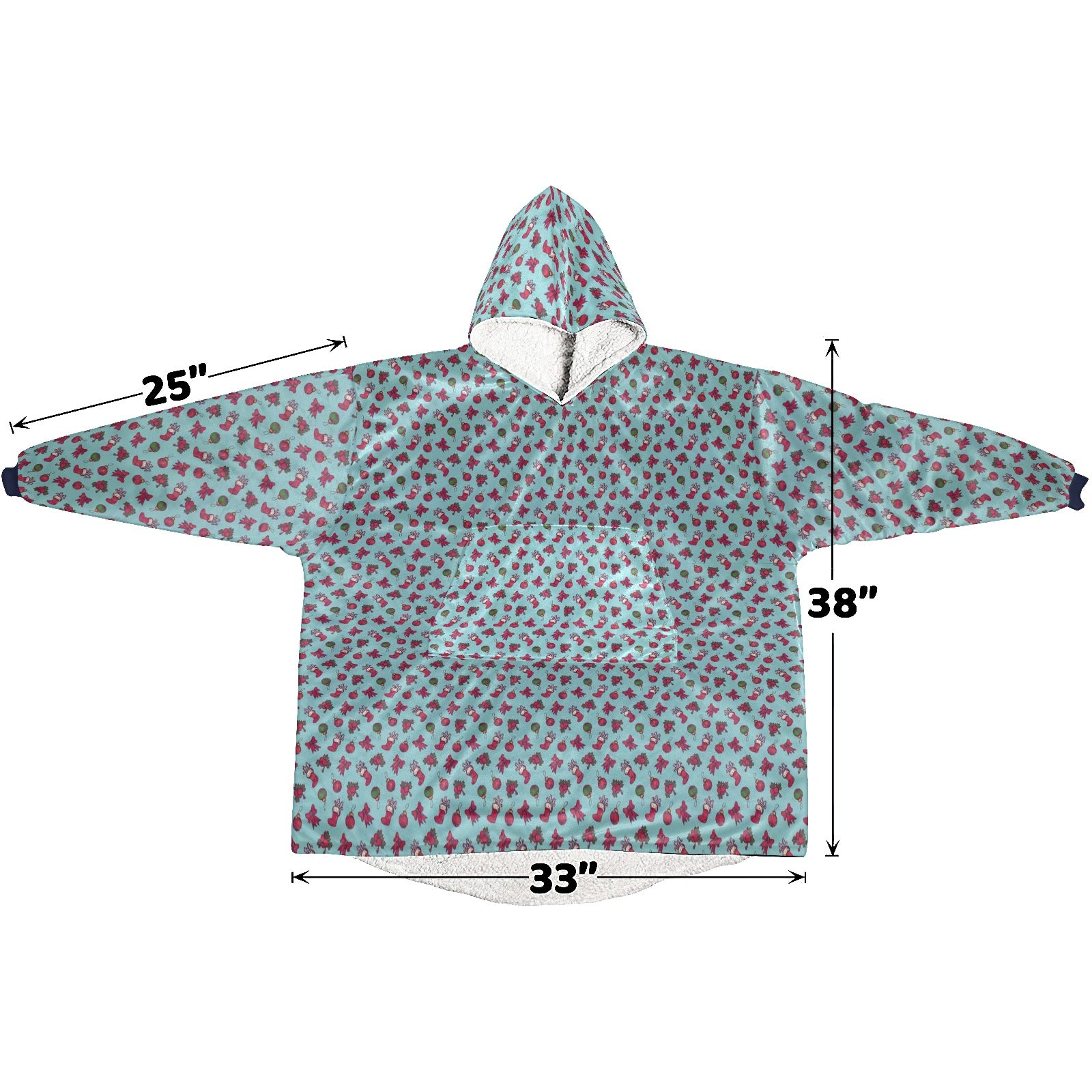 Retro Seamless Christmas Pattern  Hoodie Blanket Sweatshirt