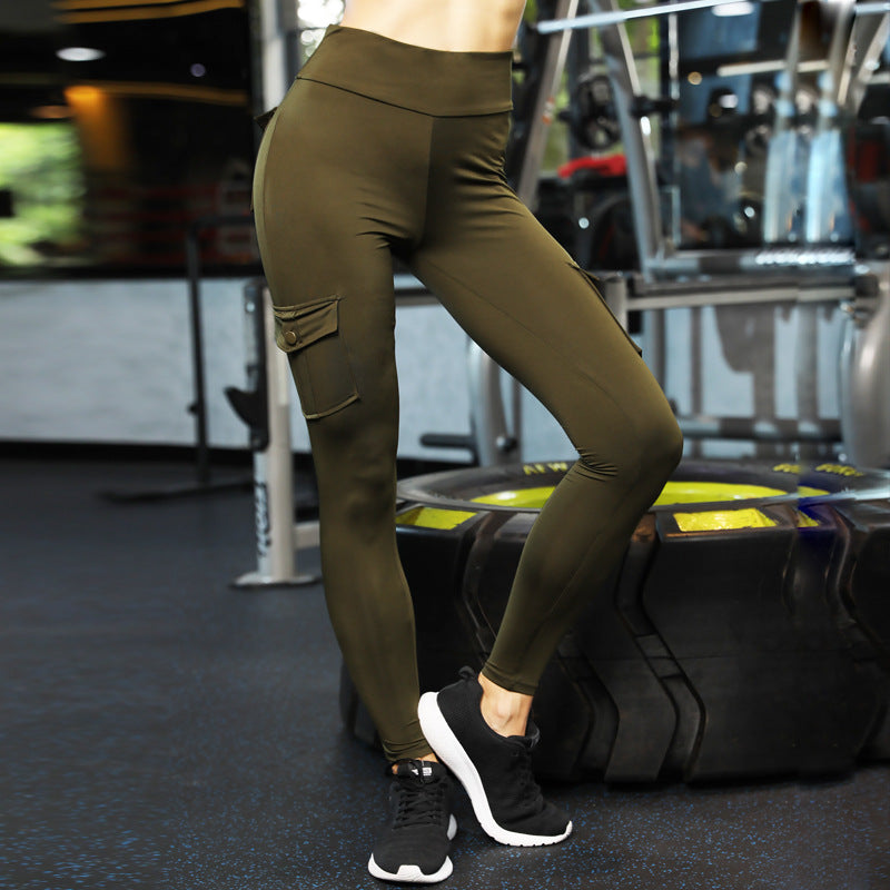 Army Workout Leggings with Pockets