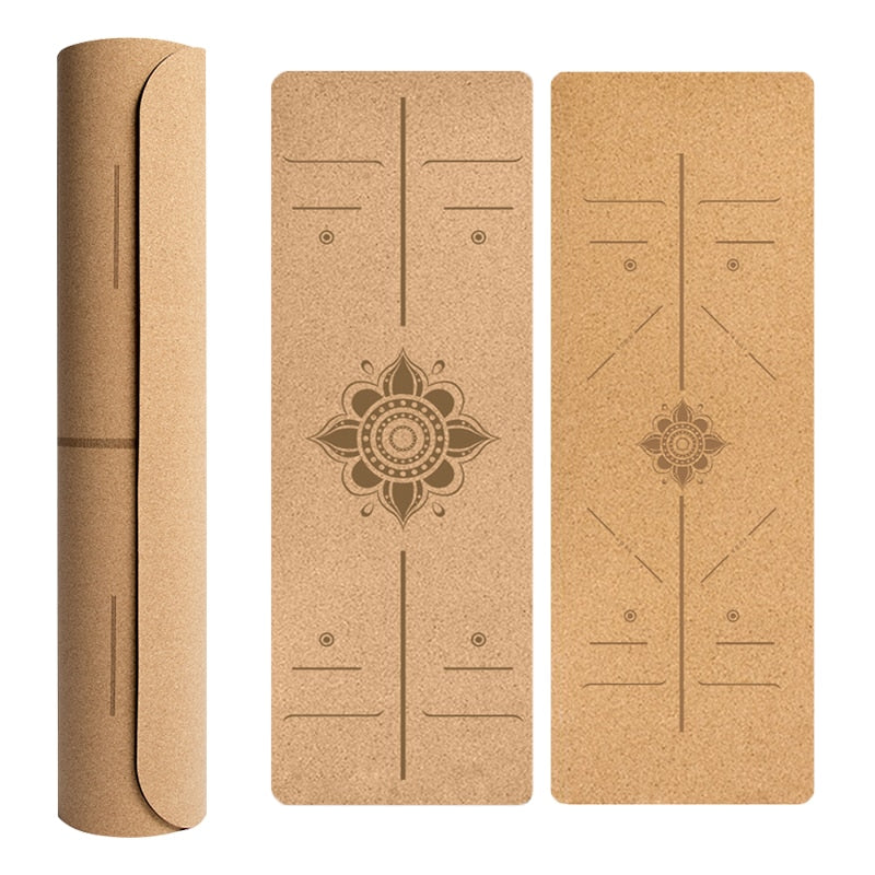 Natural Cork TPE Yoga Mat - Non-slip Gym Sports Mats