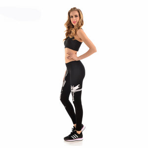 Women Casual Guns Printed Leggings - Online