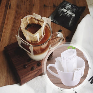 Hanging Ear Style Portable DIY Drip Coffee Filter Bag - 50PCS