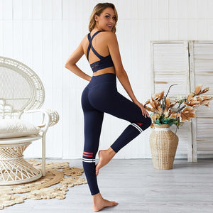 Young Navy Yoga Leggings
