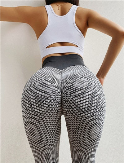 High Waist Dot Fitness Workout Leggings